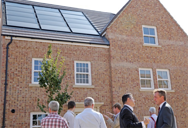 Zero energy bills development with photovoltaic hybrid panels  and earth energy bank