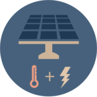 Solar PV-T graphic convert energy